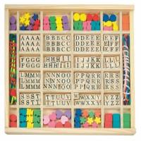 Zestaw koralików alfabet/różne kształty 250 elementów