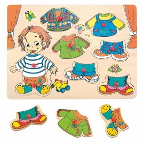 Drewniane puzzle ubieranka Sebastian