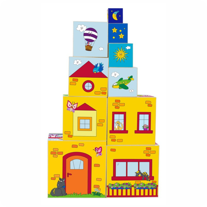 Układanka wieża 10 sześcianów