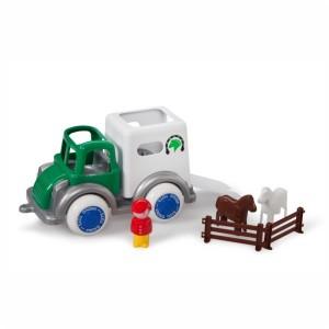 Pojazd transport konia z figurkami duży