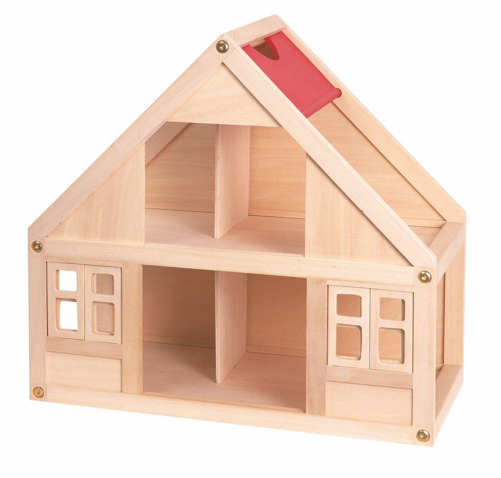 Drewniany domek dla lalek Ewa mały
