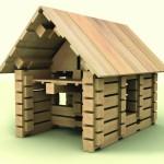 Klocki drewniane Brico 286 el. + pojemnik plastikowy