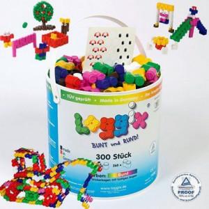 Plastikowe klocki LOGGIX 300 szt
